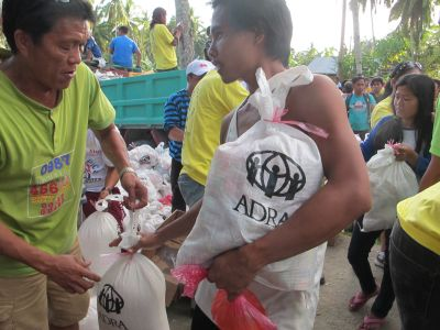 The Adventist Development and Relief Agency in the Philippines respond to calamity stricken areas and give relief goods to survivors similar to this operation which took place in the central Philippine island of Bohol, the epicenter of of the 7.2 magnitude earthquake on October 15. (photo by Moises Musico)