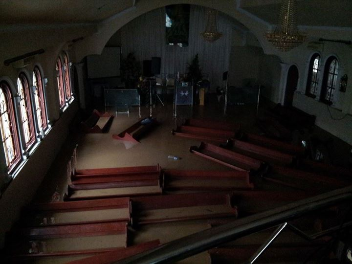 The Paal 2 Adventist church in Manado is submerged in water after days of torrential rains caused landslide and flooding. (photo provided by Bryan Sumendap)