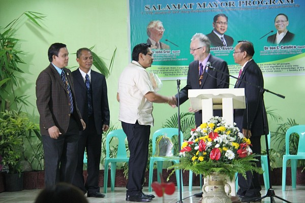 """I know that there lies more to do in this city to make it a better place to live in and this event inspires me to do much more,"" said Mayor Ronnel C Rivera of General Santos City after receiving a Plaque of Appreciation during a Thanksgiving banquet held for him at the headquarters of the Church in Southern Mindanao."