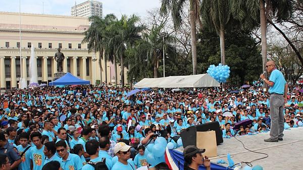 Talking To The Big Gathering Of Adventist Church Members At Liwasang Bonifacio Congressman Harlin Abayon